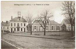 CPA - 37 - CHATEAU-RENAULT - Le Théatre Et La Poste - - Autres Communes