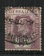 Sierra Leone - 1903 King Edward VII 6d Purple Used - Sierra Leone (...-1960)