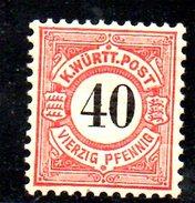 XP1906 - WUERTTEMBERG 18810 . N. 54  ** - Wuerttemberg