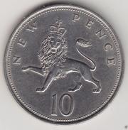 @Y@   Groot Brittanië  10 New Pence   1968   (4459) - 1902-1971 :  Post-Victoriaanse Muntstukken