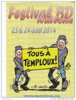 Programme LAMBIL Willy Brocante Temploux 2014 (Les Tuniques Bleues...) - Other