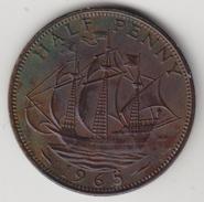 @Y@   Groot Brittanië   1/2  Penny   1965   (4461) - 1902-1971 :  Post-Victoriaanse Muntstukken