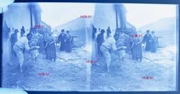 Photographie - Demie Plaque De Verre (18x9) - Scène De Campagne, Famille (B 513-2, Lot 2) - Glasplaten