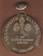AC - 50th ANNIVERSARY OF GRADUATION OF GALATASARAY HIGH SCHOOL NUZHET KANDEMIR GOLD PLATED MEDAL - MEDALLION - Jetons & Médailles