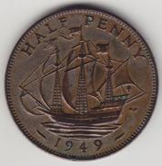 @Y@   Groot Brittanië   1/2  Penny   1949   (4462) - 1902-1971 :  Post-Victoriaanse Muntstukken