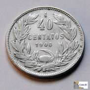 Chile - 40 Centavos - 1908 - Chili