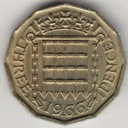 @Y@   Groot Brittanië   3 Pence  1966    (4464) - 1902-1971 :  Post-Victoriaanse Muntstukken