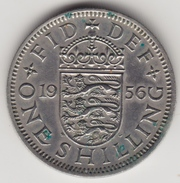 @Y@   Groot Brittanië    1 Shilling  1956    (4465) - 1902-1971 :  Post-Victoriaanse Muntstukken