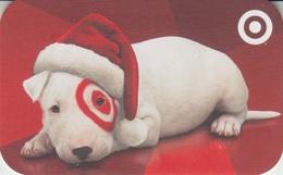 Gift Card U.S.A. Target Dog Series 2012 Dog With Santa Hat - Cartes Cadeaux