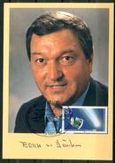 """Germany1987 Erich Von Däniken Signierte Autogrammkarte M.Mi.Nr.1273 U.SST""""Wolfsburg-Planetarium,Arge Astronomie""""1 Karte - Astronomy"""