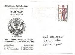 LETTRE A EN TETE DE PARIS 14 1985 - Marcophilie (Lettres)