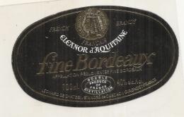 étiquette   -1970/2000 Eleanor D'Aquitaine Fine De Bordeaux - - Whisky