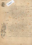 VP7671  - Acte De 1879 - Entre GALIBERT à VILLETON & BACQUIE Vente D'un Chai Situé à SAINTE LIVRADE - Manuscrits