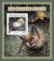 NIGER 2016 ** Bats Fledermäuse Chauves-Souris S/S - OFFICIAL ISSUE - A1703