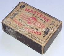 Boite D'allumettes Vide GB WW2 MASTERS Army & Navy Anglais - 1939-45