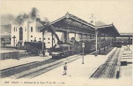Cpa Algérie – Oran – Intérieur De La Gare P.L.M. – LL. ( Train ) - Oran
