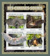 NIGER 2016 ** Bats Fledermäuse Chauves-Souris M/S - IMPERFORATED - A1703