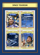 SIERRA LEONE 2016 ** Space Tourism Weltraumtourismus Tourisme Spatial M/S - OFFICIAL ISSUE - A1703 - Space