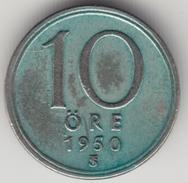@Y@    Zweden   10  Ore  1950       (4485) - Zweden