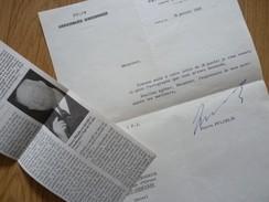 Pierre PFLIMLIN (1907-2000) PRESIDENT Du CONSEIL. Maire STRASBOURG ... AUTOGRAPHE - Autografi