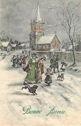 Illustrateurs - Illustrateur Orens - Chiens - Chien - Dogs - Dog - Femmes - Bonne Année - Nouvel An - état - Orens