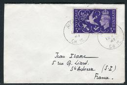 Alderney - Cover / Enveloppe De Aldernay Pour La France En 1947    Réf J 125 - Alderney