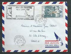 Porte Hélicoptères JEANNE D'ARC Escale à L' Ile De PAQUES Cachet Hexa  JDA  13:01:69 - Marcophilie (Lettres)