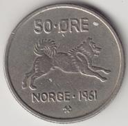 @Y@   Noorwegen  50 Ore  1961        (4494) - Noorwegen