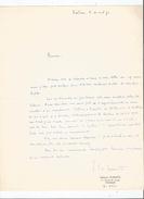 GEORGES SCHMITS (WELKENRAEDT 1934.2015) ECRIVAIN ET EDITEUR LETTRE A SIGNATURE 1970 - Autographes