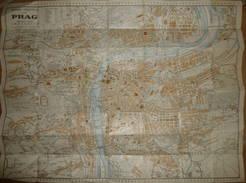 Grieben Stadtplan Von Prag - Maßstab 1:13'000 - 46cm X 59cm - Grieben-Verlag Albert Goldschmidt Berlin - Landkarten