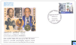 Sri Lanka Stamps 2002, Lester James Peries, Cinema, Camera, FDC - Sri Lanka (Ceylon) (1948-...)