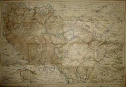 Der Harz Ca. 1910 - Maßstab 1:150'000 - 36cm X 53cm - Bibliographisches Institut Leipzig - Landkarten
