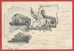 68 - GRUSS Aus SUNDHOFEN - SUNDHOFFEN - Restauration - Kirche - Bahnhof - Gare - Frankrijk