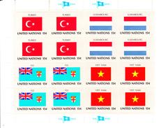 United Nations NY MNH 1980 Flag Sheets Scott #325-#340 - Neufs