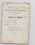 1923 - Societe Anonyme Credit Ouvrier - Extrait De Compte - Mr PETIT - LIGNY - Banque & Assurance