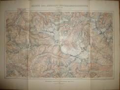 Karte Der Ankogel Hochalmspitzgruppe 1909 - Maßstab 1:50'000 - 45cm X 61cm - Herausgeber Deutscher Und österreichischer - Landkarten