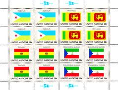 United Nations NY MNH 1981 Flag Sheets Scott #350-#365 - Neufs