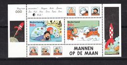 Nederland Netherlands 1999,2V In Block,kuifje,tintin,mannen Op De Maan/lune,MNH/Postfris(A3087) - Beroemde Personen