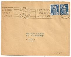 PARIS 96 RUE GLUCK VAINCRE LA MISERE. 1948 - Oblitérations Mécaniques (flammes)