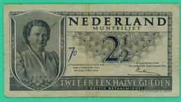 2 1/2 Gulden - Hollande - Pays Bas - N+ 5ZJ072770 - 1949 - TB+ -