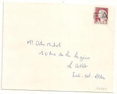 E A Grand Format Sur Decaris De SIDI BEL ABBES Oran Algérie Sur Enveloppe. Non Voyagée. - Algérie (1962-...)