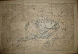 Karte Der Marmolatagruppe 1905 - Maßstab 1:25'000 - 65cm X 95cm - Herausgeber Deutscher Und österreichischer Alpen Verei - Landkarten