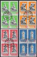PP 1940 Denkmale: Zu 3-6 Mi 364-367 Yv 349-352 Mit O EINSIEDELN 6.V.40 (Zu CHF 230.00 - Pro Patria