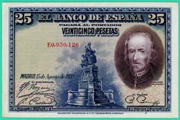 25 Pesetas - Espagne - 1928 - N° E0930126 - Sup - - [ 1] …-1931 : Eerste Biljeten (Banco De España)