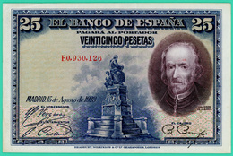 25 Pesetas - Espagne - 1928 - N° E0930126 - Sup - - 1-2-5-25 Pesetas