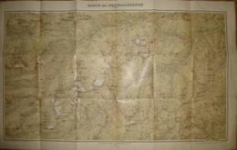 Karte Der Ferwallgruppe 1899 - Maßstab 1:50'000 - 53cm X 85cm - Herausgeber Deutscher Und österreichischer Alpen Verein - Landkarten