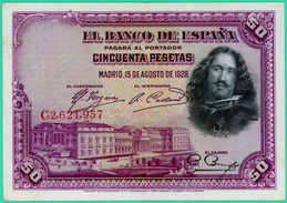 50 Pesetas - Espagne - 1928 - N° G2621957 - Sup - - 50 Pesetas