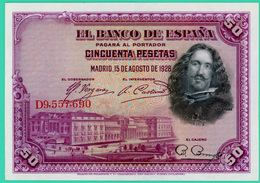 50 Pesetas - Espagne - 1928 - N° G9557690 - Sup - - 50 Pesetas
