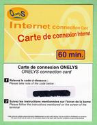 Prepayee INTERNET *** ONELYS *** 60 Minutes *** Tirage ? Ex *** (A104-P16) - France