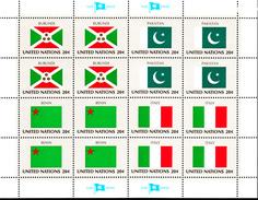 United Nations NY MNH 1984 Flag Sheets Scott #425-#440 - Neufs